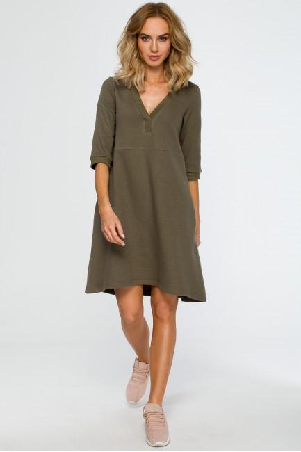 CM4013 Sukienka z głębokim...