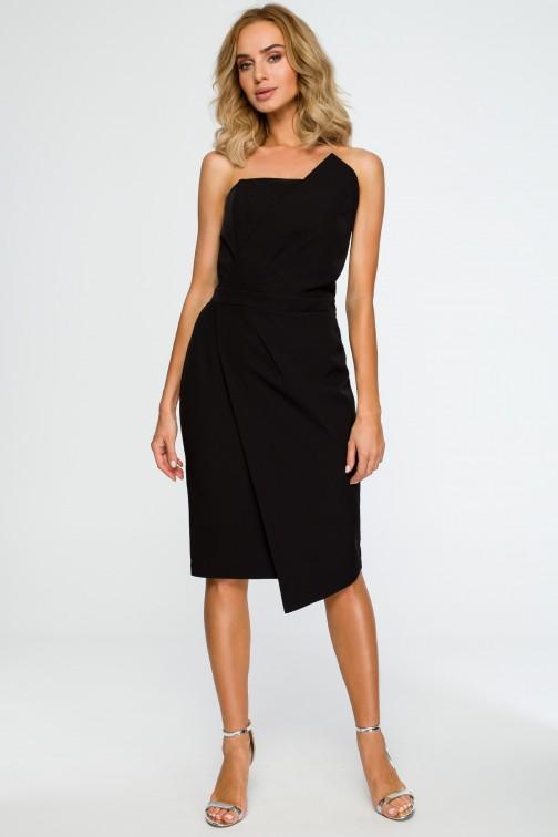 CM4019 Sukienka gorsetowa - czarna