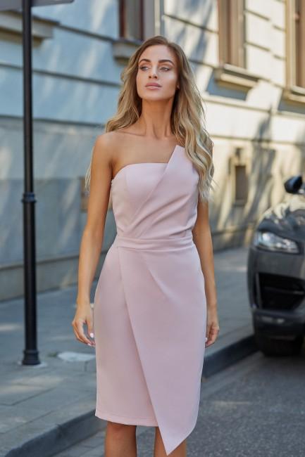 Sukienka gorsetowa - pudrowa