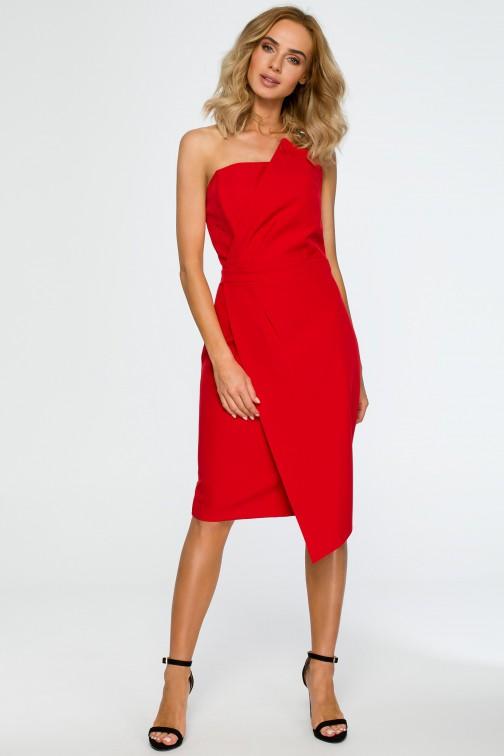 CM4019 Sukienka gorsetowa - czerwona