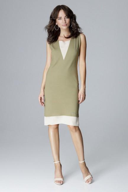 CM4063 Prosta sukienka bez...