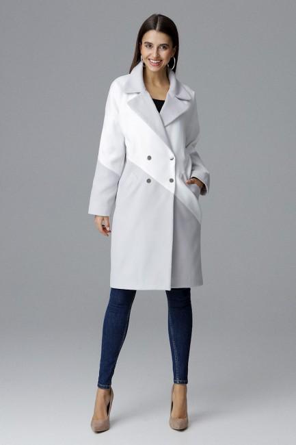 CM4073 Dwukolorowy płaszcz...