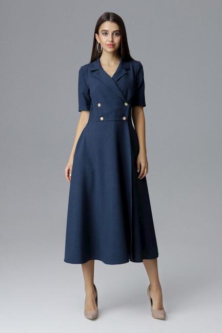 CM4077 Dwurzędowa sukienka...