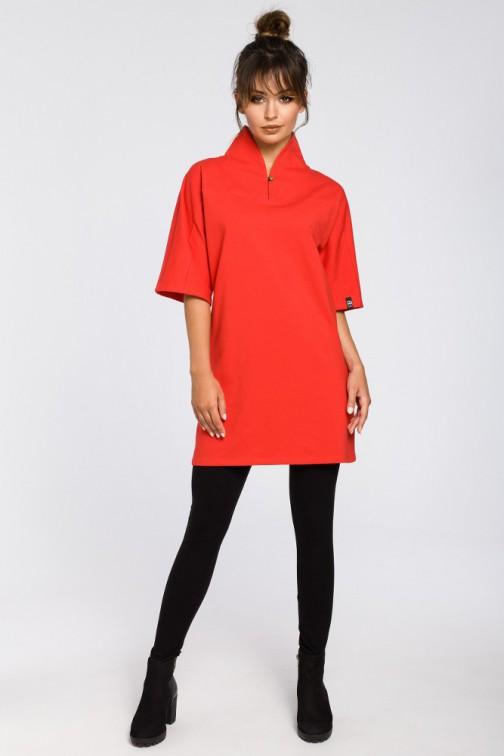 CM3181 Nowoczesna tunika kimono - czerwona