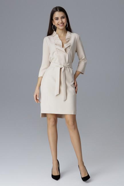 CM4081 Wiązana sukienka z...