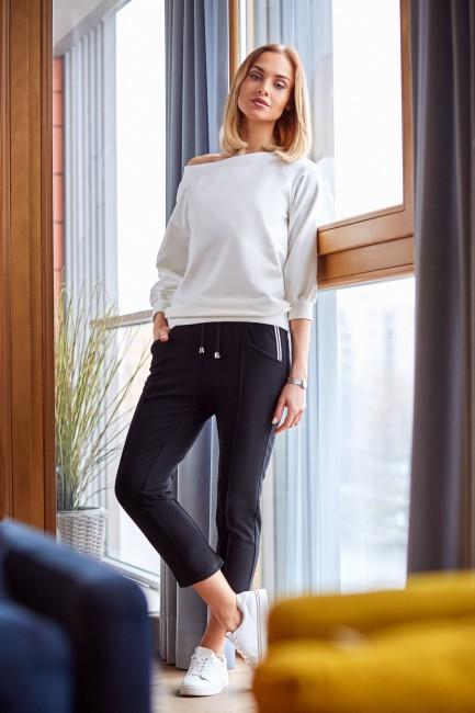 Spodnie cygaretki długości 7/8 - czarne