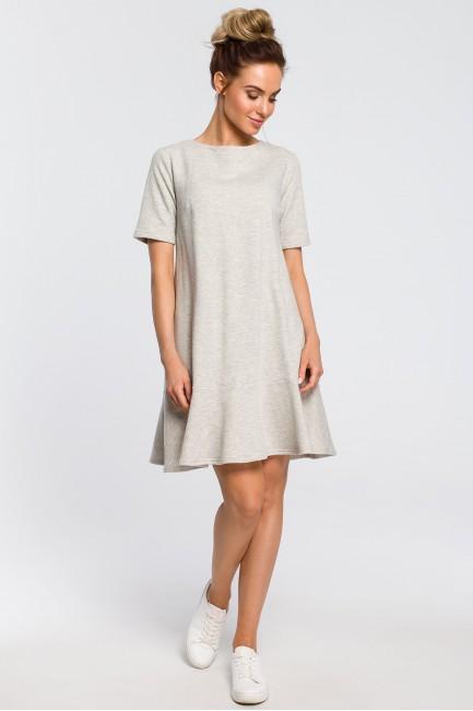 CM4100 Luźna sukienka z...