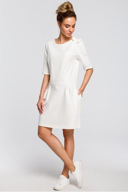 CM4103 Prosta sukienka z...