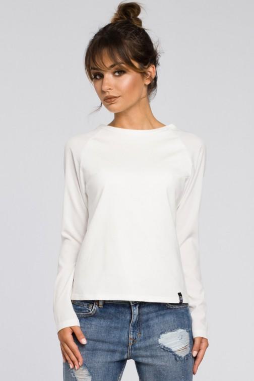 CM3185 Elegancka dzianinowa bluzka damska - ecru