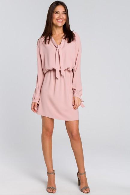 CM4135 Sukienka z wiązanym...