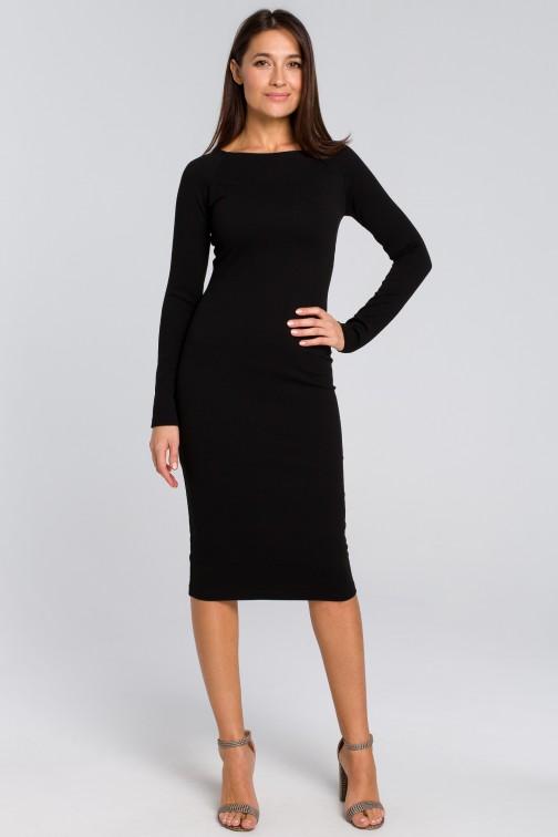 Dopasowana sukienka ołówkowa - czarna