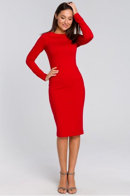 Dopasowana sukienka ołówkowa - czerwona