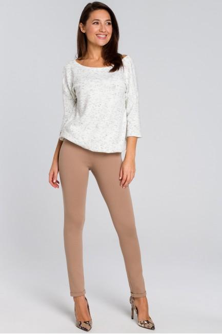 Proste spodnie typu rurki - beżowe