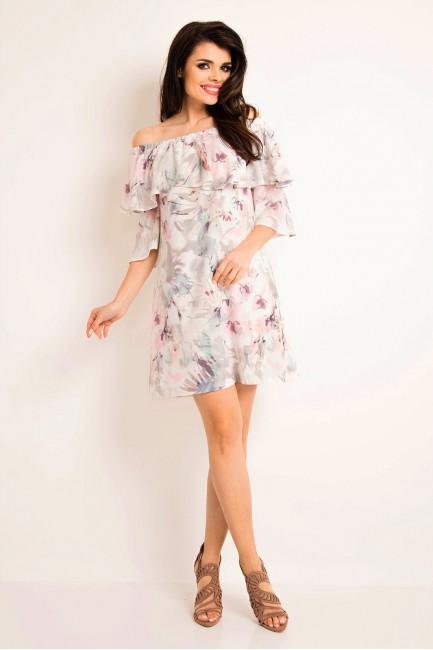CM3196 Stylowa sukienka z...