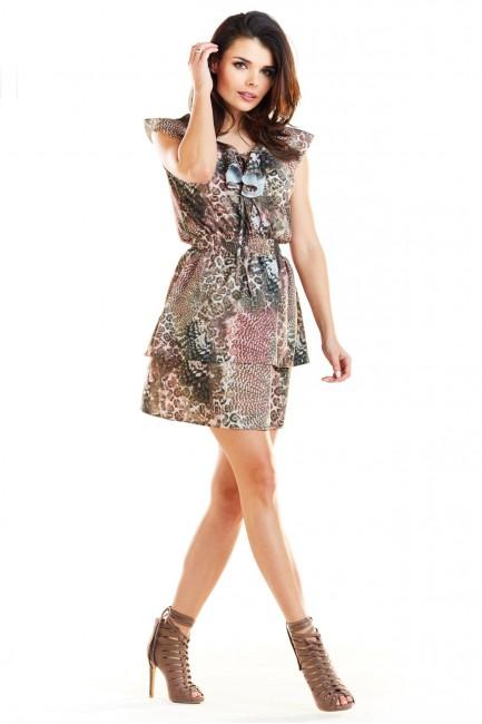 CM4183 Delikatna sukienka z...