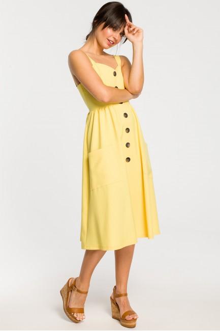 CM4265 Sukienka na szelkach...