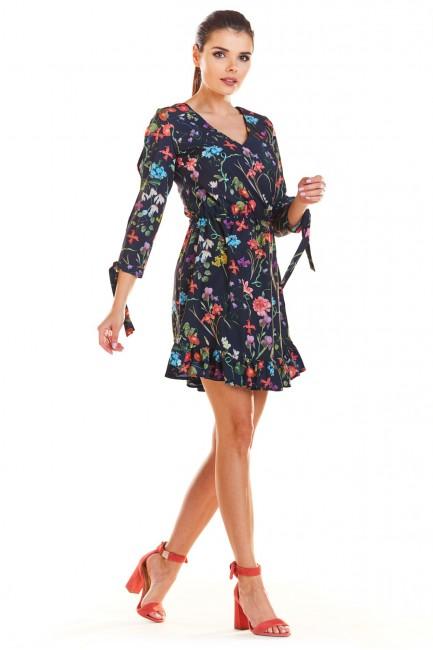 CM4335 Sukienka w kwiaty z...