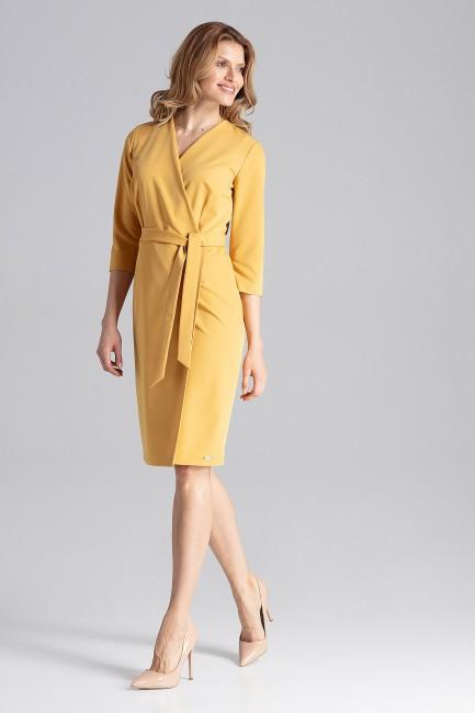 CM4345 Klasyczna sukienka z...