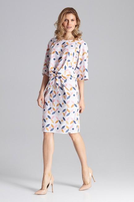Delikatna sukienka z okrągłym dekoltem - wzór 103