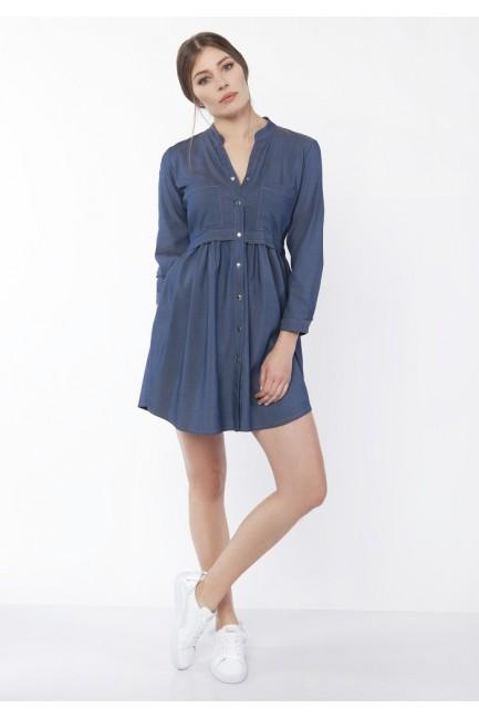 CM4356 Jeansowa sukienka ze...