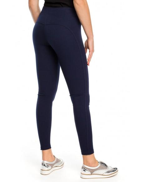 Modelujące legginsy Push Up - granatowe